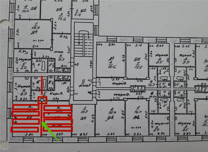 Куйбышева 103 Пермь рухнувший дом планировка рухнувшей части квартир.png