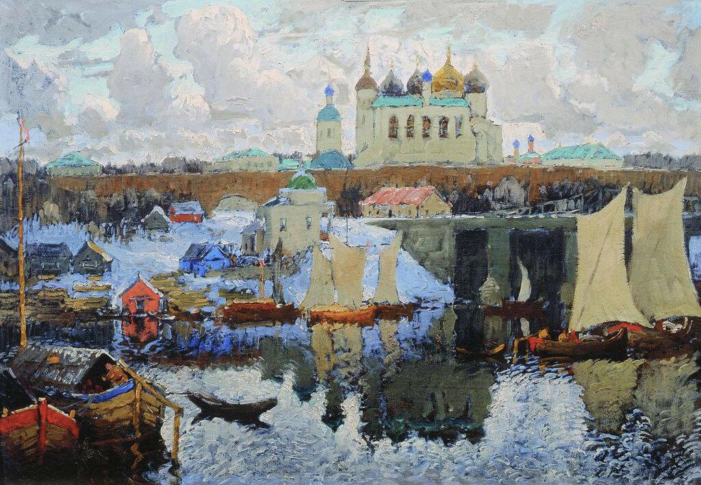 Новгород. Пристань. 1919