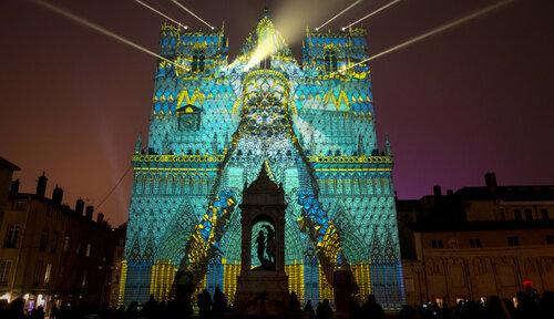 Световое шоу в Лионе, 2016