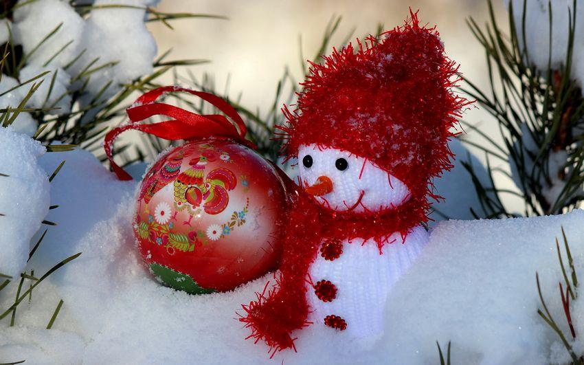 Ноый год, снеговик, игрушки, украшения