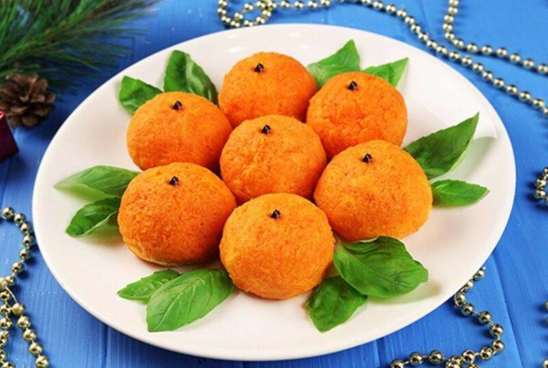 Острая закуска «Мандаринки»   красивые блюда для праздничного стола