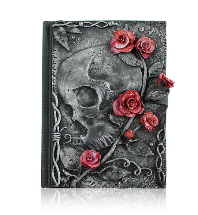 16. Череп и розы.