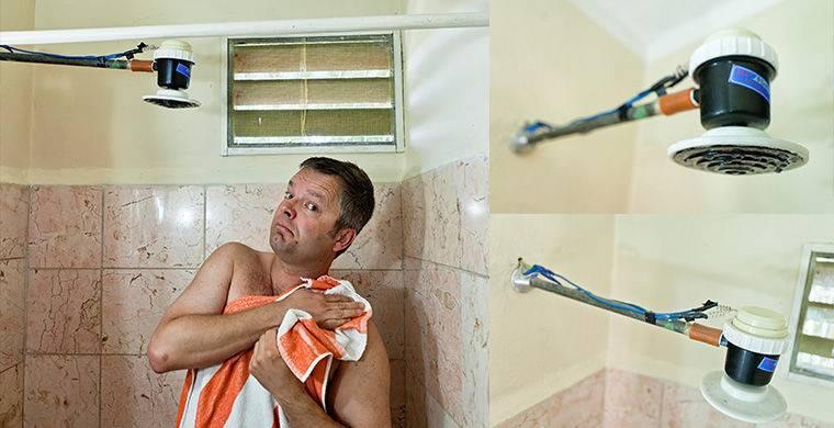 В домах у кубинцев постоянные перебои с электричеством, проблемы с холодной и горячей водой (в некот
