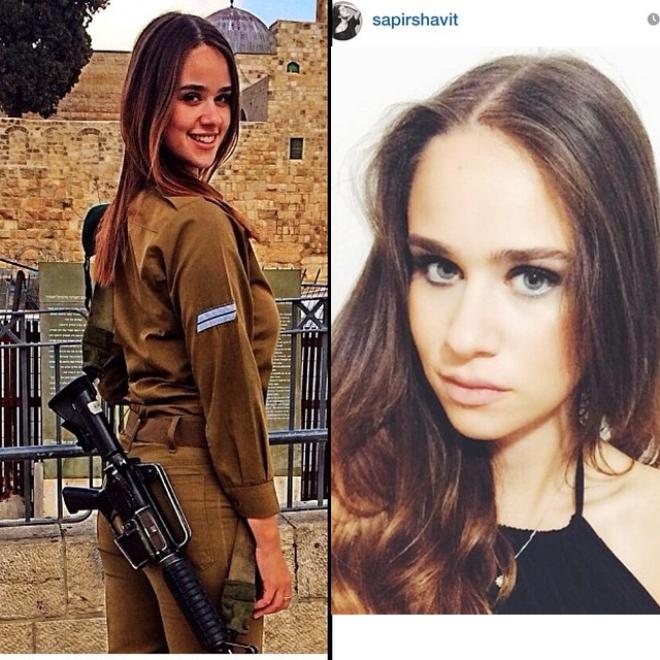 Военнослужащие красотки Израиля