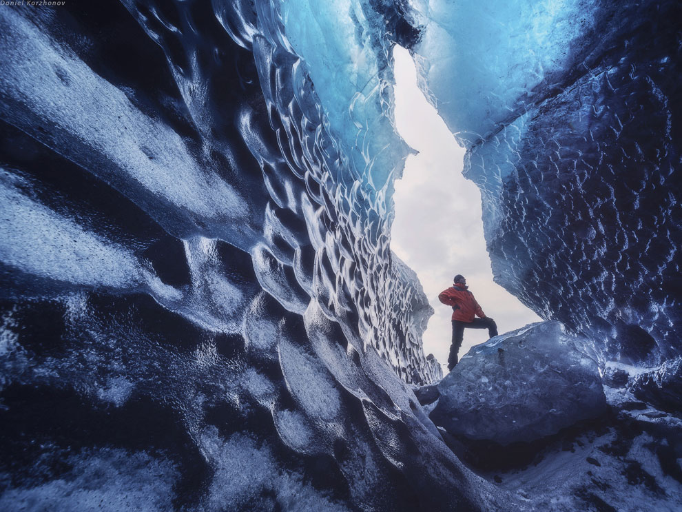 Ледниковые пещеры в основном находятся в национальном парке Скафтафелль, у самого начала ледник