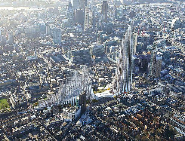 Проект для Лондона как города с плотной застройкой.