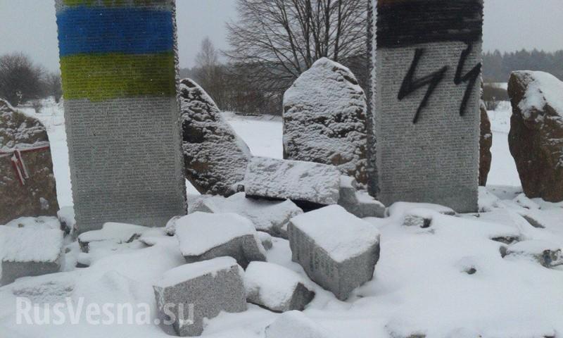 ВМИД назвали провокацией повреждение монумента полякам