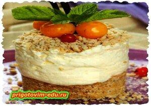 Пирожное с сырным кремом