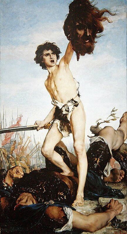 5 g. ferrier  David_Victorious_Over_Goliath,_1876.jpg