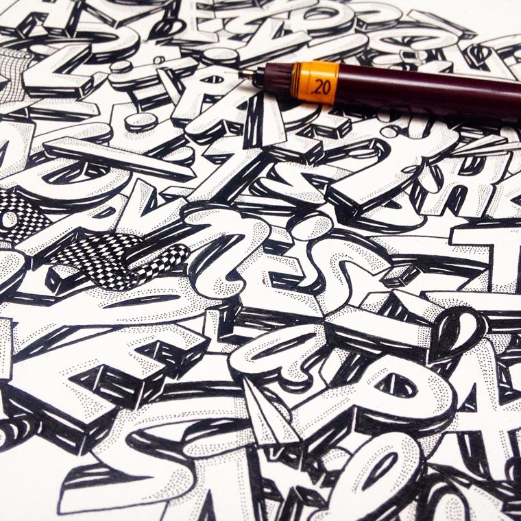 Chill Out - Le hand lettering par Nairone