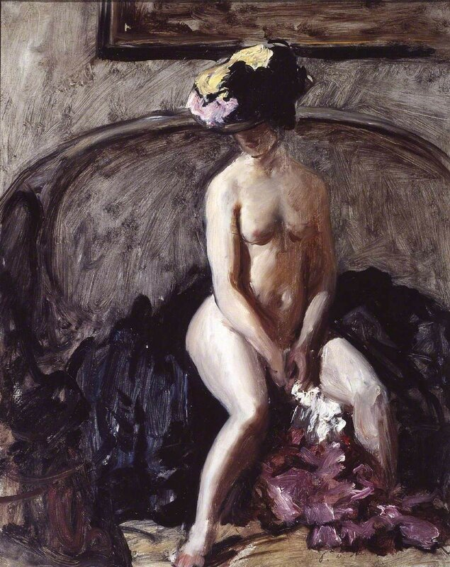 Seated Nude: The Black Hat