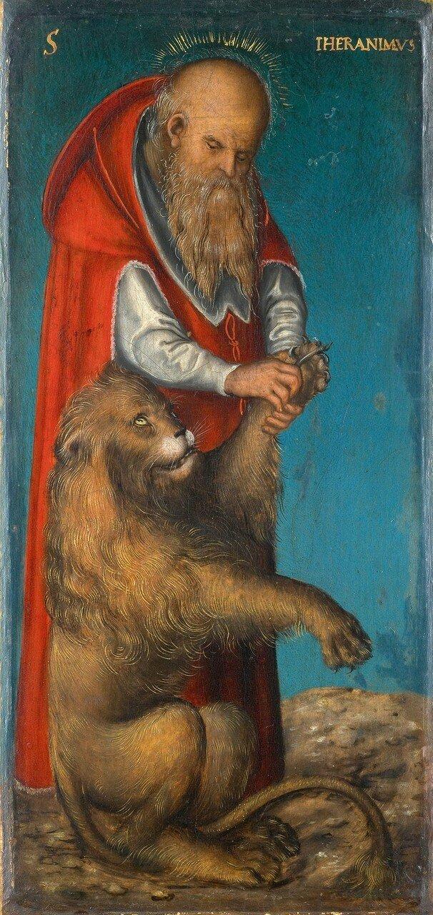 Святой Иероним (Saint Jerome)_1515_24.5 х 11.5_д.,м._Вена, Музей истории искусств.jpg