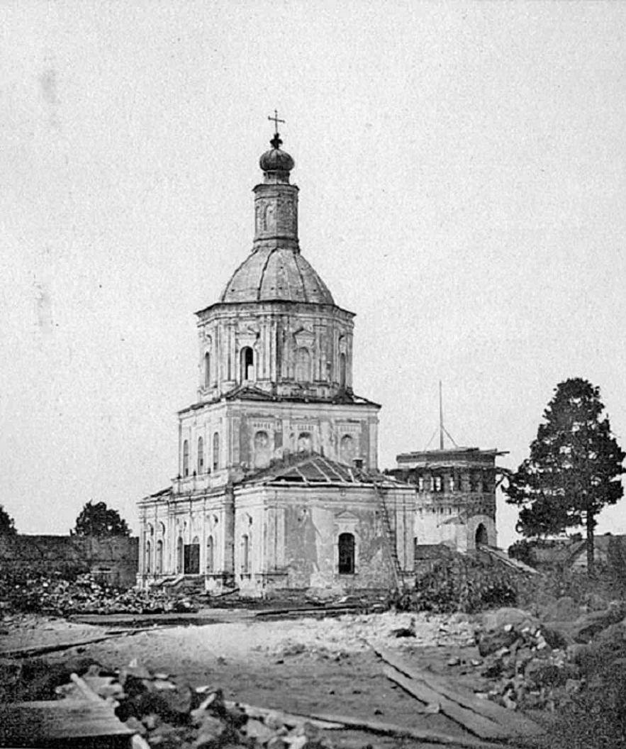 Никольская (Салтыковская) церковь после пожара