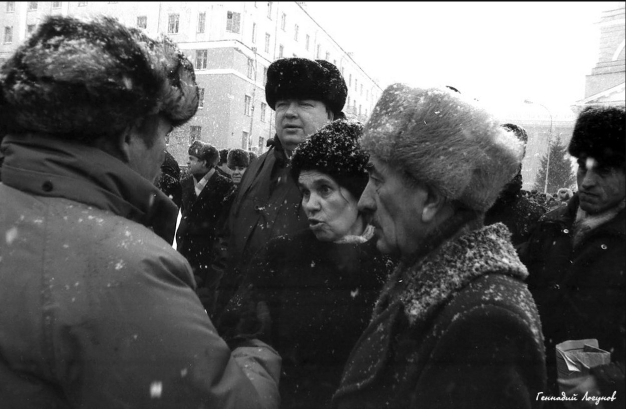 Пл. Ленина. Мнения на жизнь у липчан разные