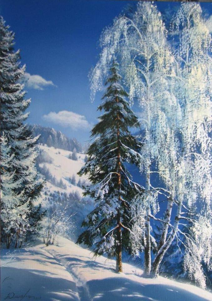 Зимние пейзажи художника Виктора Юшкевича