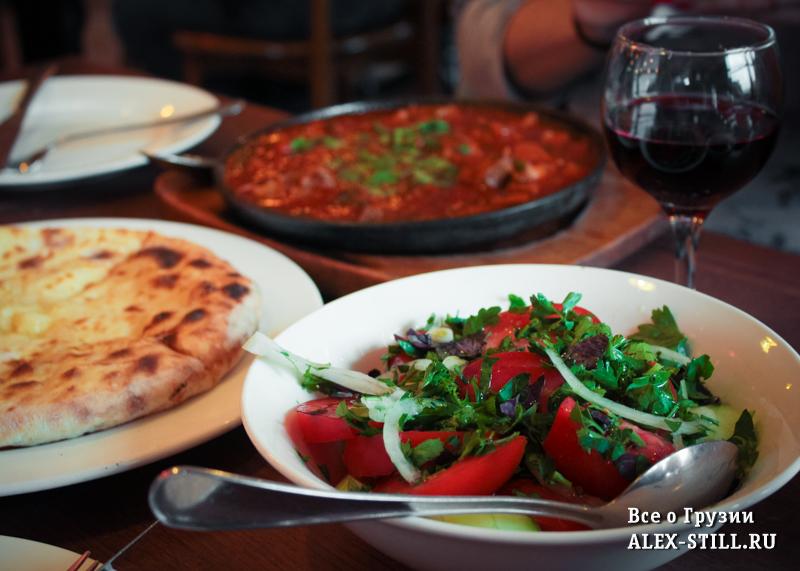 Цены в кафе Тбилиси