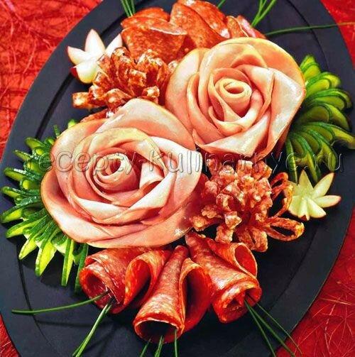 100 идей красиво разложить нарезки для праздничного стола