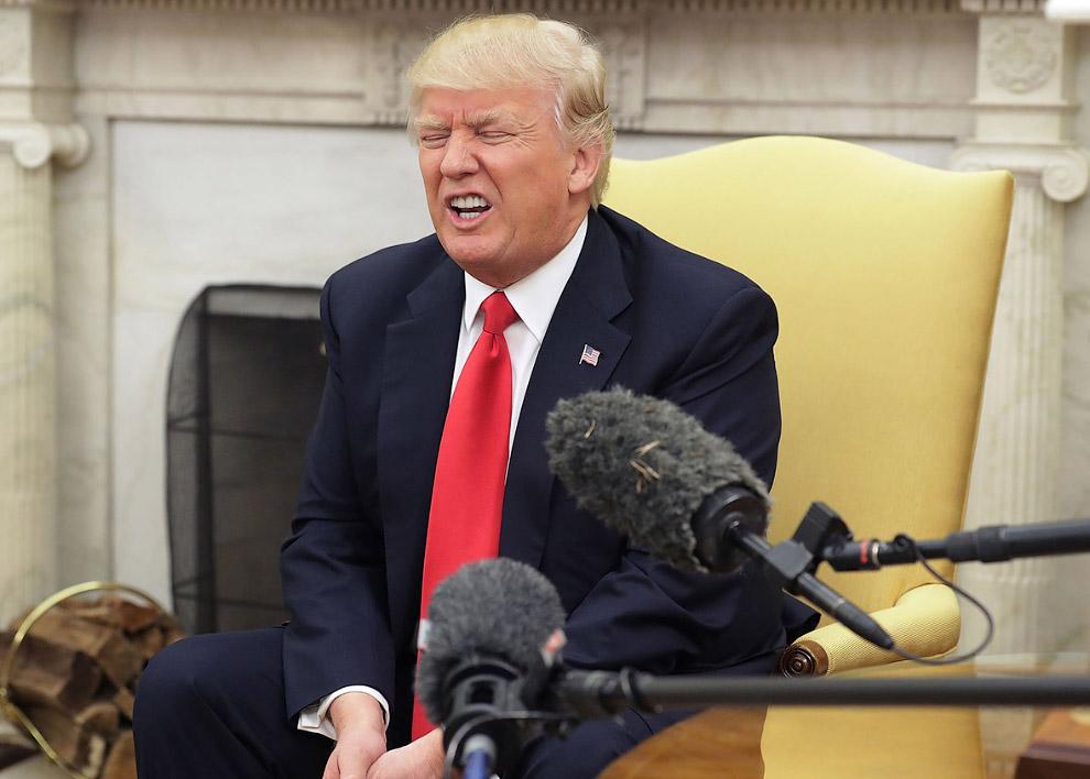 26. Трамп на пресс-конференции с королем Иордании Абдаллой II в Розовом саду Белого дома, 5 апр