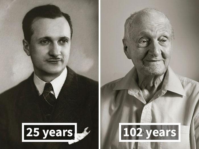 Антонин Коварж, 25 лет (руководитель собственного оркестра) и 102 года.