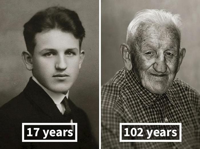 Станислав Спачил, 17 лет (мастер-электрик) и 102 года.