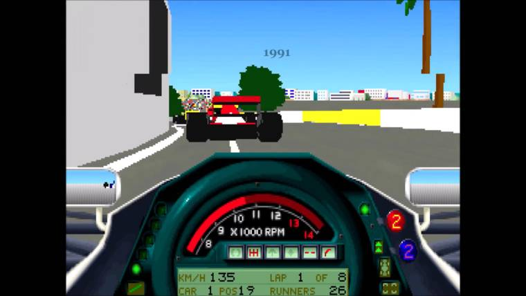 The evolution of Formula 1 video games between 1976 and 2015