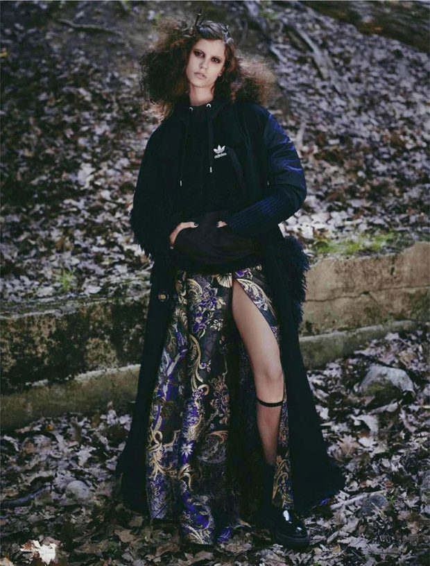 Antonina Petkovic is Forest Fairy for Elle Russia January 2017 Issue