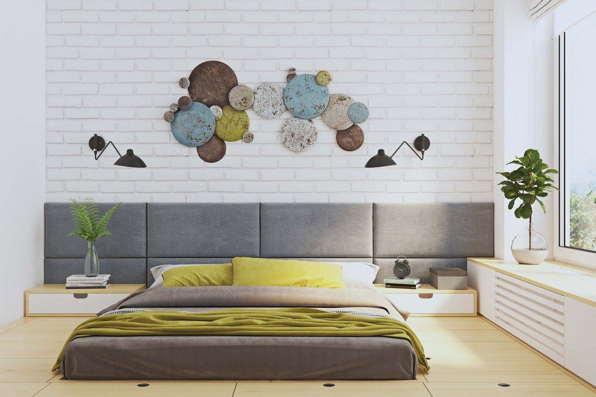 Низкая спальная кровать