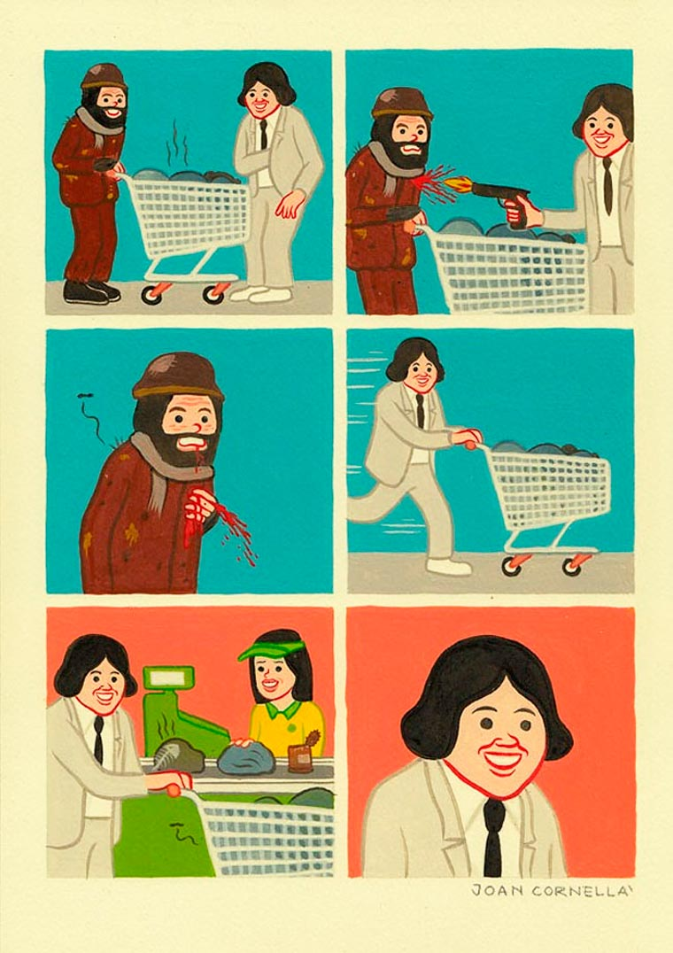 Trash and Black Humor - The latest comics from Joan Cornella