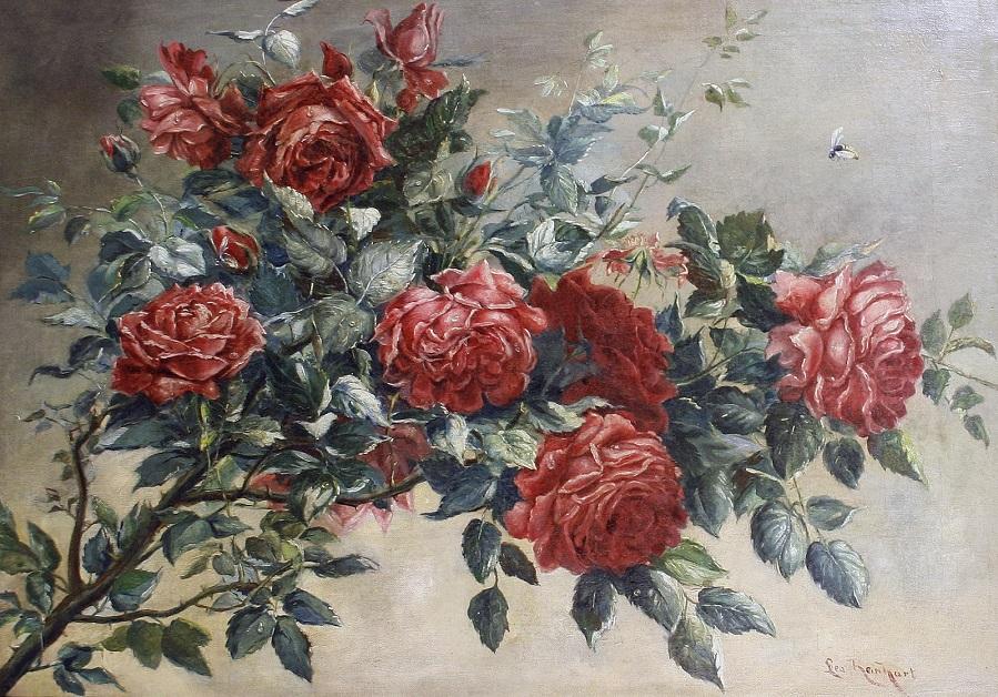 Натюрморт с веткой розы (Still life of roses on a branch)_48 х 88.5_х.,м._Частное собрание.jpg