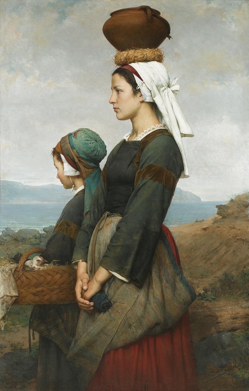 Le chemin du marché, Finistère, 1878.jpg