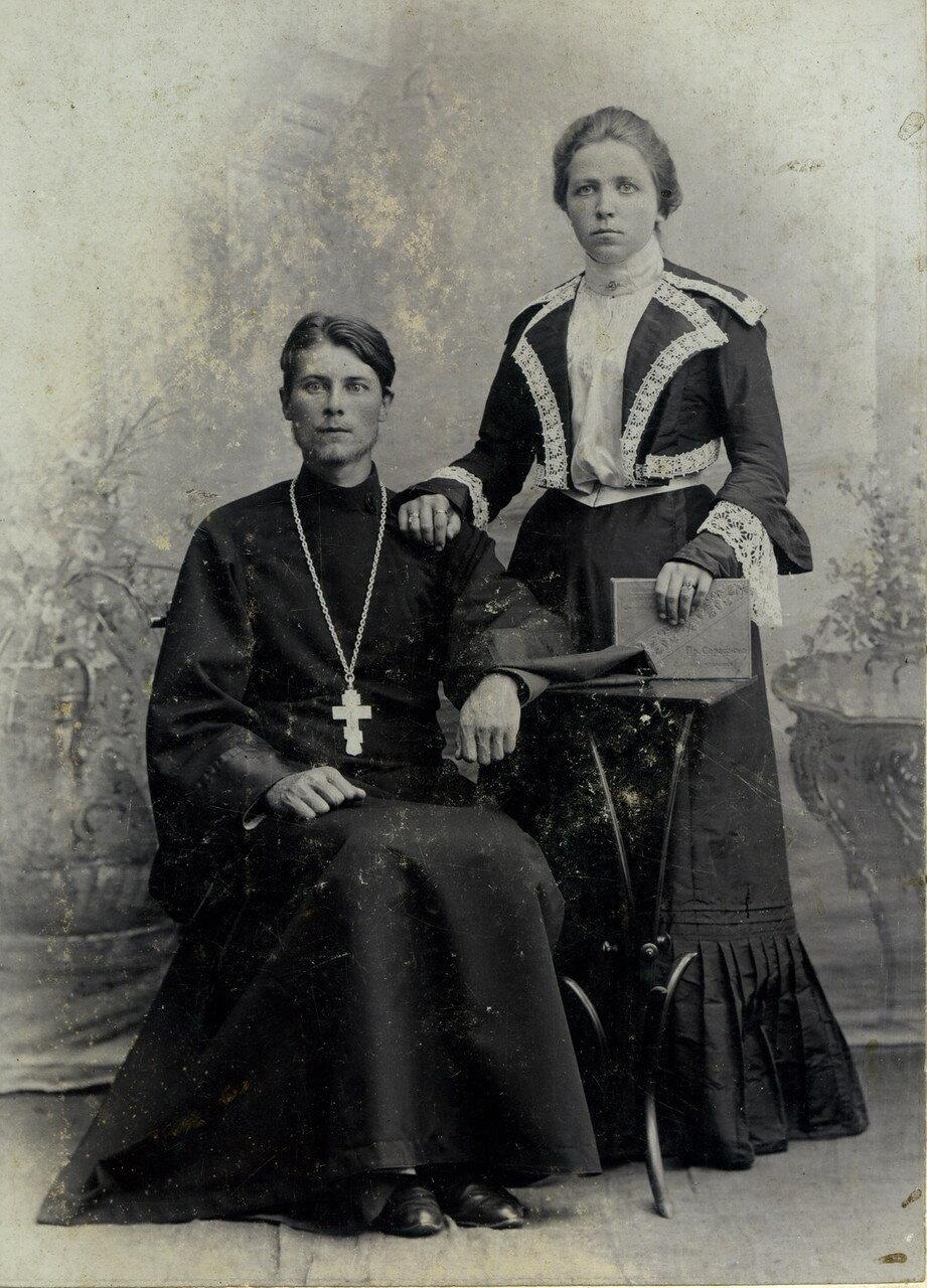 Отец Сергей Никологорский и его жена  Ольга Викторовна (Попова). 1905-1910
