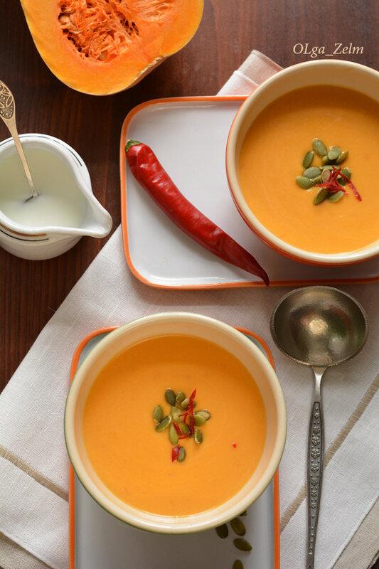 Тыквенно-томатный суп