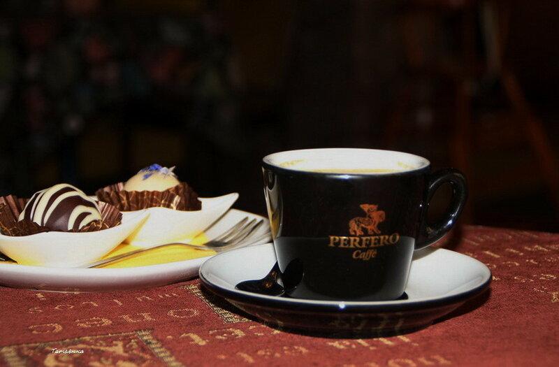 кофе с конфетками..