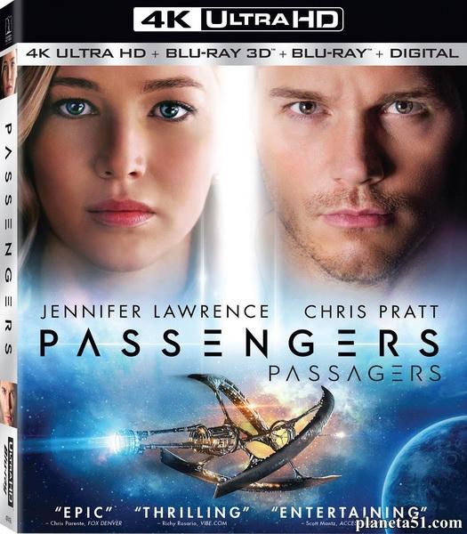 Пассажиры / Passengers (2016/BDRip/HDRip/3D) + Remux + UltraHD 4K