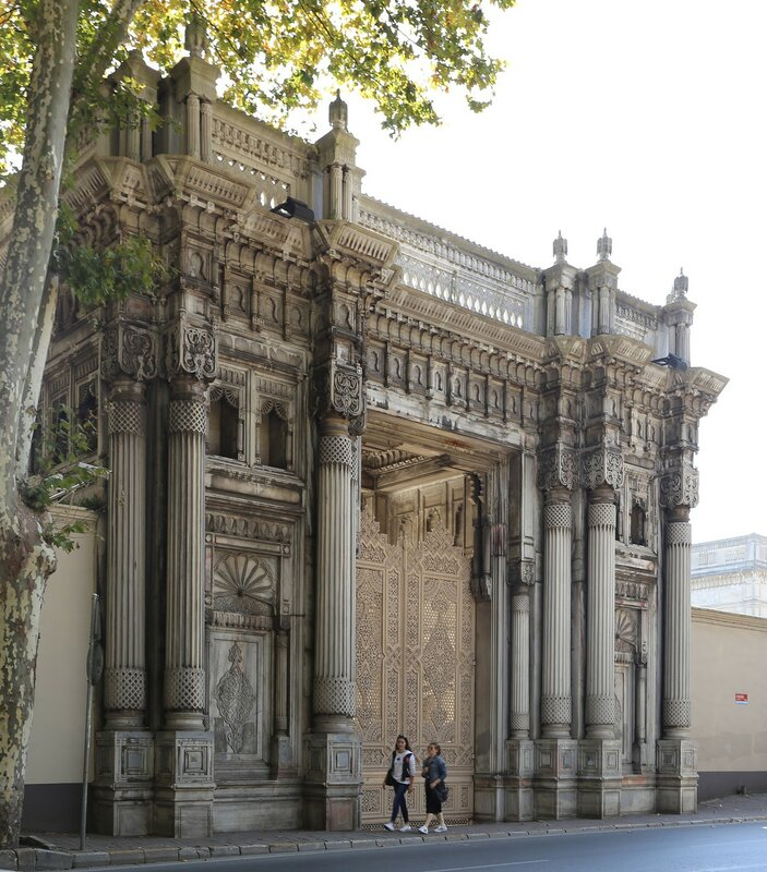 Стамбул. Ворота дворца Чираган (Çırağan Sarayı kapısı)
