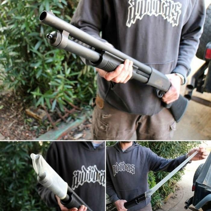 9. Защитный чехол для винтовки. Многие любят охоту, однако погода не всегда бывает сухой и ясной. Чт