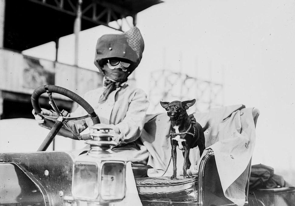 Во что одевались первые автомобилисты (11 фото)
