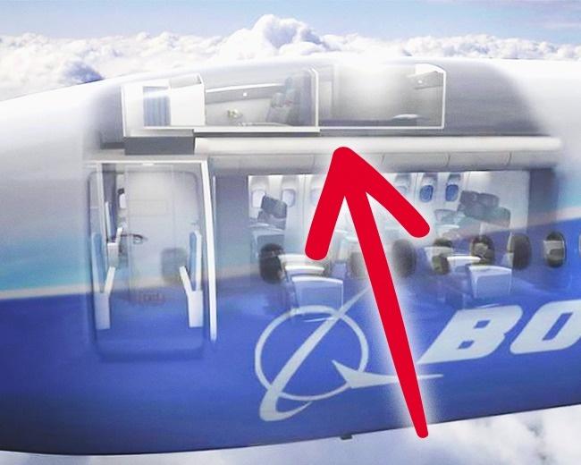 © Boeing  Внего ведет винтовая лестница, аступени скрыты занеприметной дверью, которая нахо