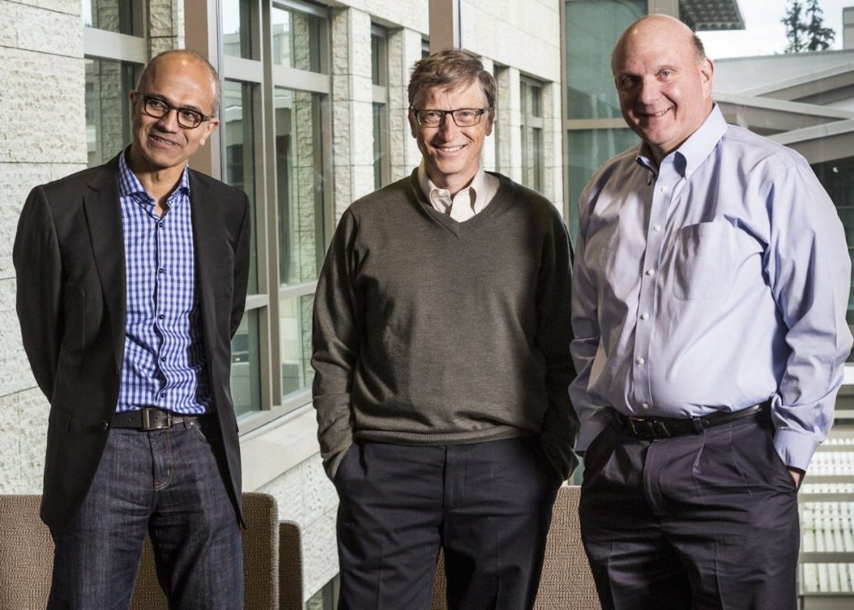 С тех пор Гейтс передал должность генерального директора 30-му по счету сотруднику Microsoft Стиву Б
