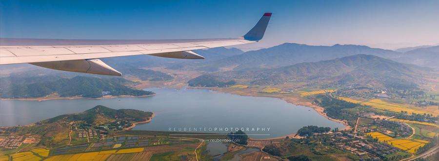 2. Вид с воздуха на Северную Корею