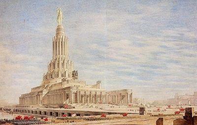 Грандиозное здание высотой 420 метров по проекту Бориса Иофана должно было стать апофеозом больш