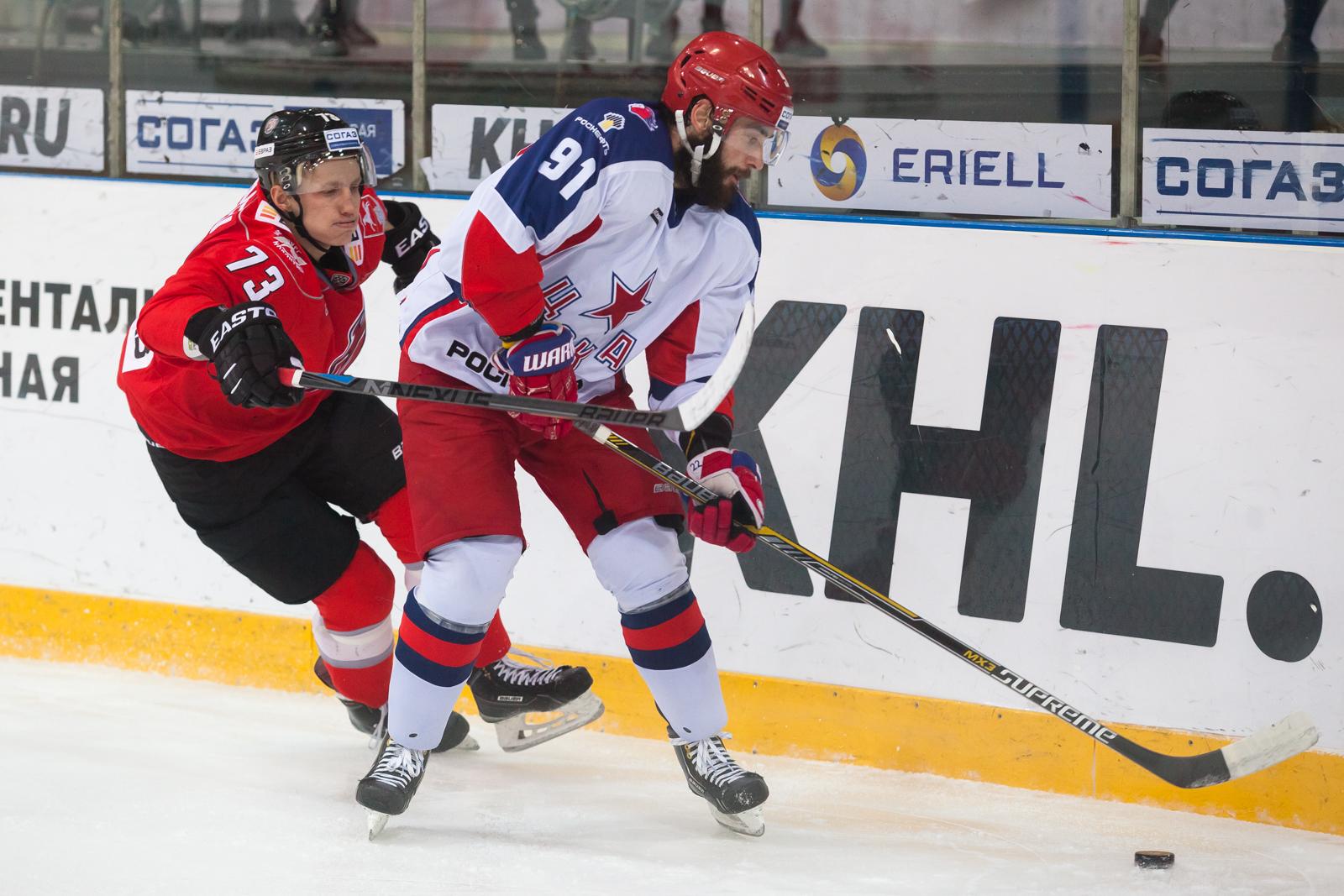 ЦСКА победил навыезде новокузнецкий «Металлург» вматче стабильного чемпионата КХЛ