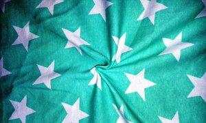 Рибана Звезды на ментоле. Качество ПЕНЬЕ, Пл 220, Состав: 92% хб 8 % лайкра, шир 180см.  Цена 400 руб.