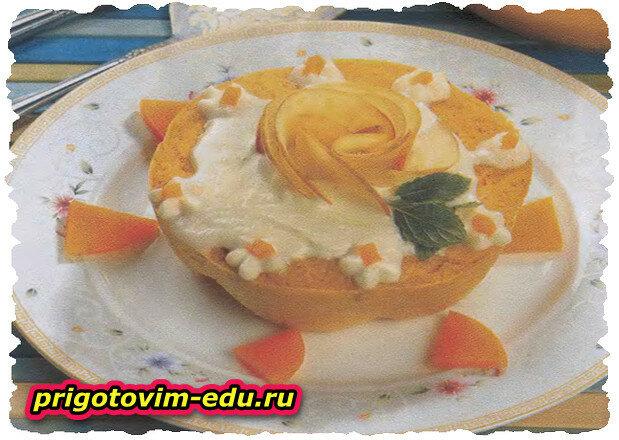 Пудинг из тыквы (готовится в пароварке)