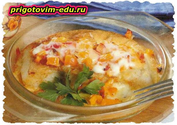 Рыба, запеченная в сметанном соусе в СВЧ-печи