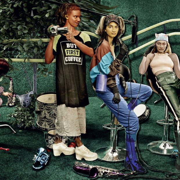 Gigi Hadid & Kendall Jenner as Placebo Pets for W Magazine Art Issue