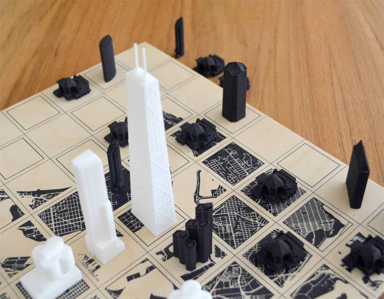 City Chess - When chess meets the architecture of major cities
