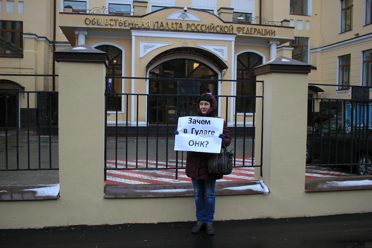Пикеты против итогов выборов в ОНК