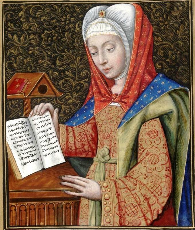 Medea -- Huntington Library Ms HM 60, f°62 Les XXI Epistres des Dames illustres traduicttes d'Ovide par le Reverend Pere en Dieu Monseigneur l'Evesque .jpg