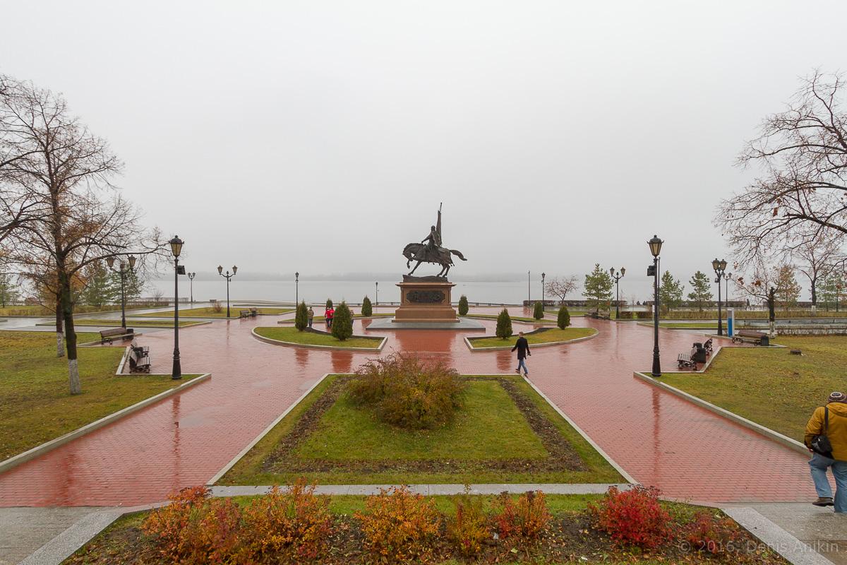 Самара набережная туман дождь фото 1